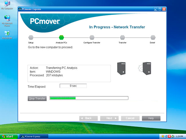 PCmover Express for Windows XP.